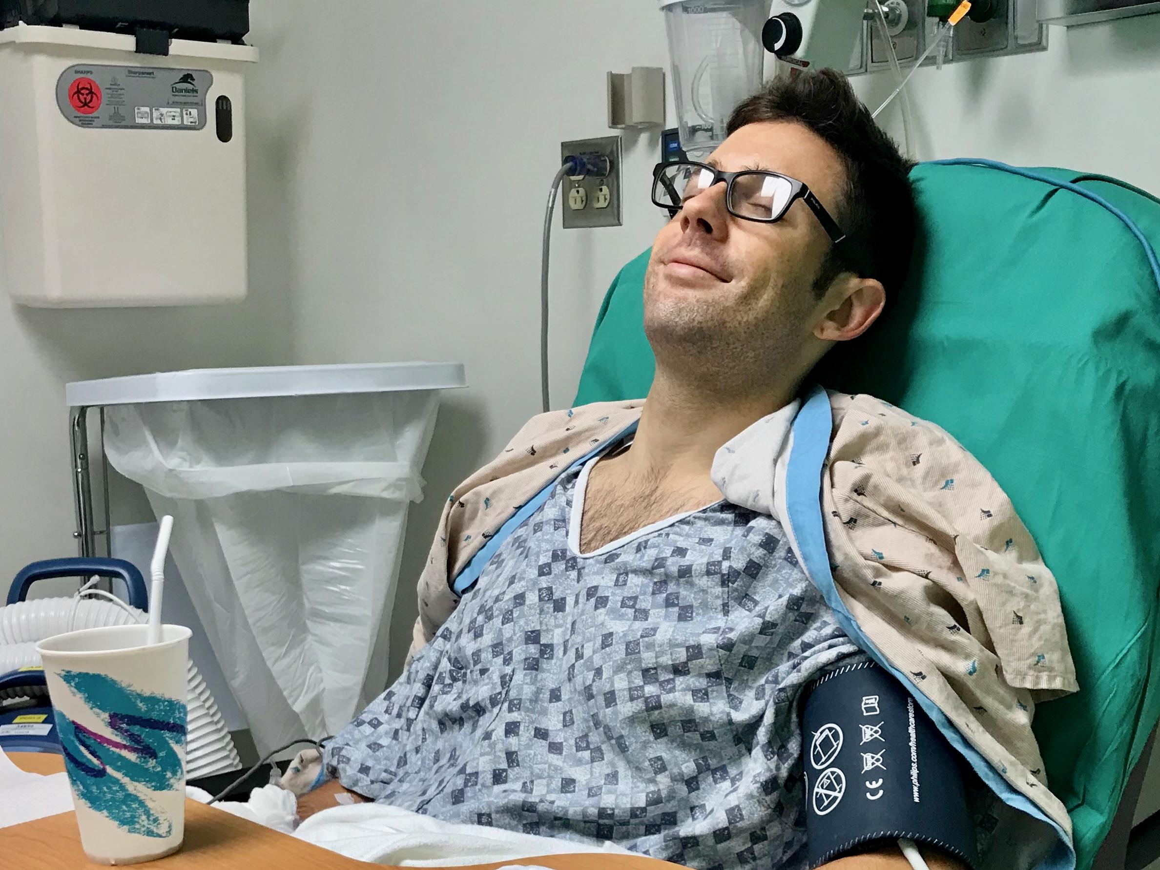 Brad Mackey post surgery